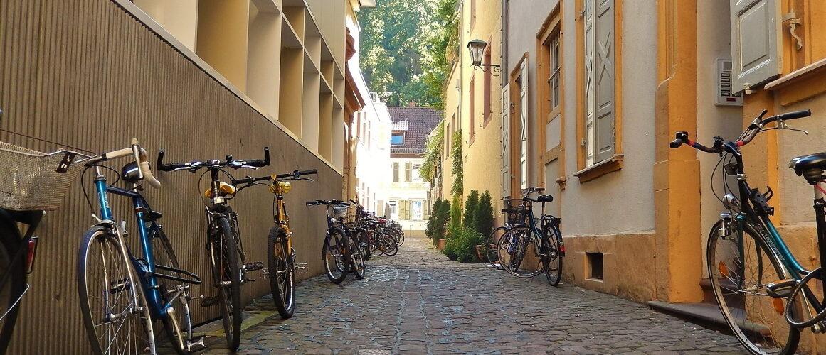 Kisselgasse mit Fahrrädern
